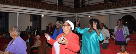 Praise and Worship during Service